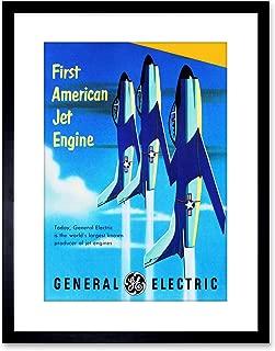 The Art Stop Vintage AD Transport American Jet Engine Plane Framed Print F97X7682
