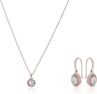 Mestige Women Glass Rose Gold Nylah Set with Swarovski Crystals