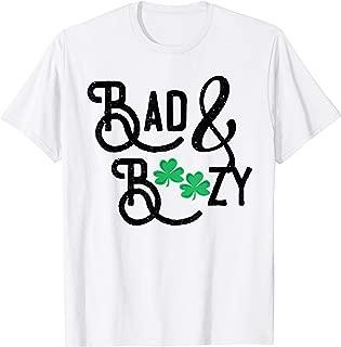 Bad and Boozy   Funny St Patricks Day Drinking Women Shirt