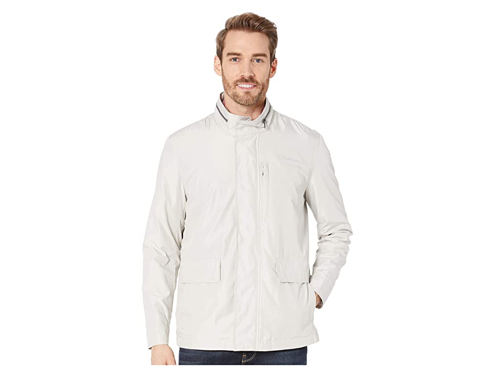 Cole Haan Packable Rain Jacket with Stand Collar (Stone) Men