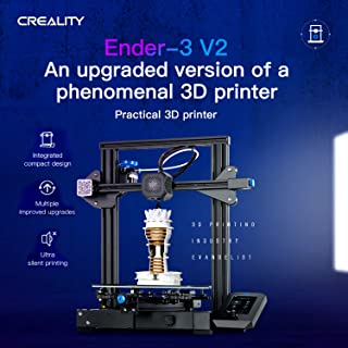 Creality 3D Ender-3 V2 3D Printer Kit All-Metal Integrated Structure Silent Mainboard New UI Display Screen Support Resume...