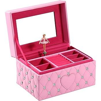 JB002-101 Broadway Gifts Ballerina Music Box,Pink,7.5 x4.5x3.75 Broadway Gifts Co