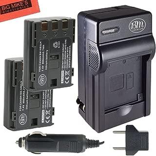 BM Premium 2-Pack of NB-2L, NB-2LH, BP-2L5, BP-2LH Batteries and Battery Charger for Canon DC301, DC310, DC320, DC330, DC410, DC420, Elura 40, 50, 60, 65, 70, 80, 85, 90, EOS 350D, 400D, Digital Rebel XT, XTi, FV500, FVM20, FVM30, FVM100, FVM200, HG10, HV20, HV30, Optura 30, 40, 50, 60, 400, 500, PowerShot G7, G9, S30, S40, S45, S50, S60, S70, S80, VIXIA HF R10, HF R100, HF R11, HG10, HV20, HV30, HV40, ZR100, ZR200, ZR300, ZR400, ZR500, ZR600, ZR700, ZR800, ZR830, ZR850, ZR900, ZR930, ZR950, ZR960