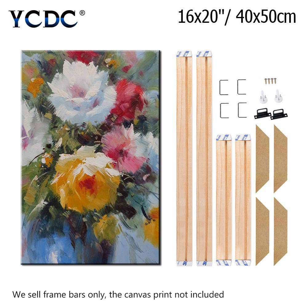 Customized Wooden Art Frames for Paintings /& Canvases Framed Picture Accessories DIY Solid Wood Canvas Frame Kit 11 Inch x 4PCs for Oil Painting /& Wall Art Easy to Build Canvas Stretching System