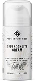 ASDM Beverly Hills Tepezcohuite Cream 4oz/120ml Anti-Aging Collagen Booster, Wrinkle Remover, Healing for Acne Scars, Sensitive Skin, Sun Burn,Wounds,Eczema, Stretch Mark,Anti-inflammatory Moisturizer