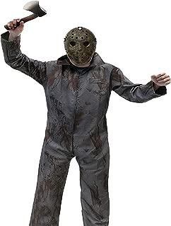 13日の金曜日 ジェイソン コスプレ コスチューム セット 血糊 で リアル に 恐怖 の演出 マスク 他全5点セット