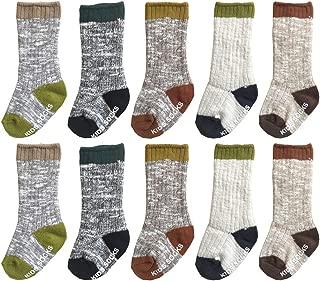 Boutique Unisex Baby Socks 6 Pairs Non-Slip Knee-High Stockings for Toddler Boy Girls