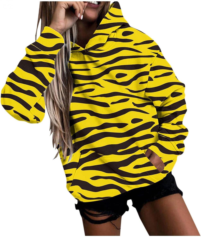 Masbird Hoodies for Women, Women's Cute Hoodies Graphic Long Sleeve Animal Pattern Hoodies Hooded Pullover Sweatshirt