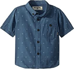 All Day Jacquard Short Sleeve Shirt (Big Kids)