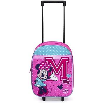 Cadeau pour Filles! Sac Voyage pour Enfants Bagages /à Main Cabine Valise Sac /à Dos Scolaire Disney Minnie Mouse Sac /à Dos /à roulettes pour Filles