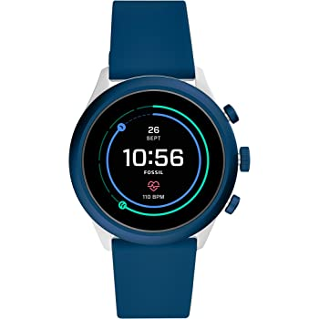 Fossil Men's Sport Metal and Silicone Touchscreen Smartwatch with Heart Rate, GPS, NFC, and Smartphone Notifications