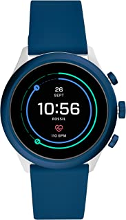 Fossil Sport (43mm, blue) unisex Metal and Silicone Touchscreen Smartwatch with AMOLED screen, Heart Rate, GPS, NFC, Music...