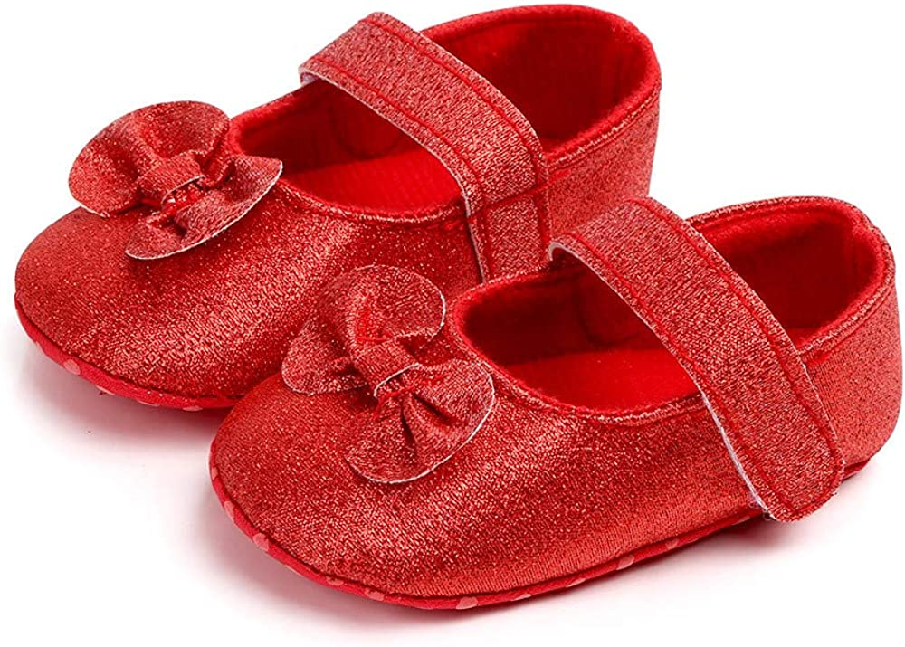 KONFA Little Kids First Walkers Soft Sole Boots,Toddler Newborn Baby Girls Bling Bowknot Hook/&Loop Crib Shoes