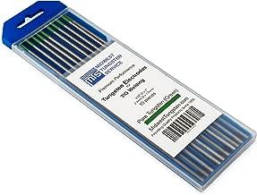 """TIG Welding Tungsten Electrodes Pure Tungsten 3/32"""" x 7"""" (Green, WP) 10-Pack"""