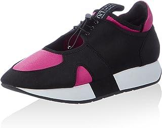 Liu Jo Sneaker mujer May Tejido Tecno Negro Fuxia