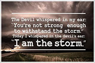 I Am The Storm Quote Motivational Laminated Dry Erase Sign Poster 12x18