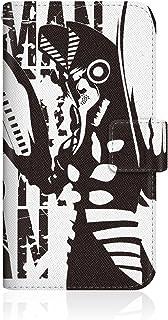 CaseMarket 【手帳型】 apple iPhone 5s iPhone5s スリムケース ステッチモデル [ CaseMarket ウルトラマン スマートフォンケース シリーズ - バルタン星人 モノクロデザイン ] レザー手帳 ステッチ & ストラップホール