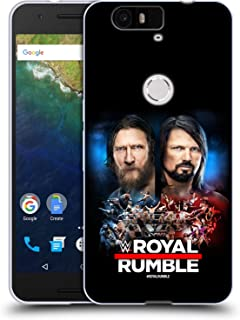 Official WWE Daniel Bryan and AJ Styles 2019 Royal Rumble Soft Gel Case Compatible for Huawei Nexus 6P