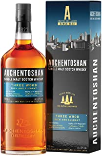 Auchentoshan Three Wood Single Malt Scotch Whisky, mit Geschenkverpackung, 43% Vol, 1 x 0,7l