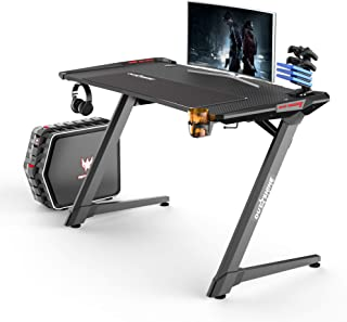 Outshine Gaming Destiny Gaming Desk Tabel Tafel met RGB LED Lighting Pro Gaming Tabel Desk voor pc Console Gaming Bureaus ...
