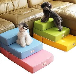 Escaleras plegables para mascotas (gatos y perros pequeños), convertibles en colchón, cojín
