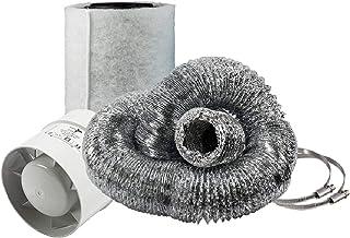 Cultivalley Mini airconditioning set - 105m³ buisventilator & 160m³ actieve koolfilter 100mm Ø - afvoerset voor kleine rui...