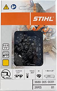 "Stihl 26RS 81 Rapid Super Chainsaw Chain. Fits 20"" bar.325 Pitch .063 Gauge"