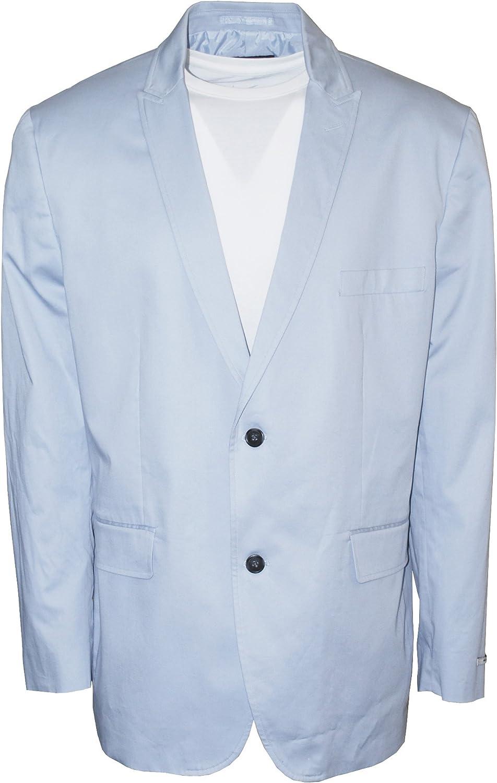 INC Men's Peak Lapel Collins Two Button Slim Fit Sport Coat Light Blue XXL
