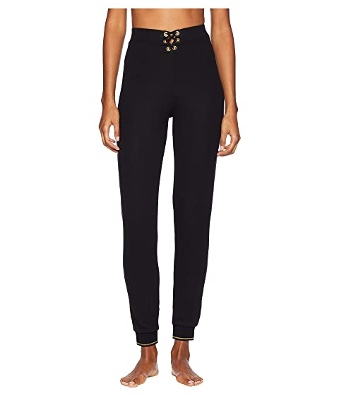 ELSE Urban Lace-Up High-Waisted Track Pants