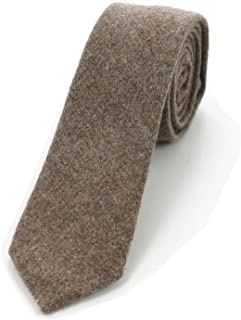 "JEMYGINS 2.4"" Cotton Necktie Solid Mens Cashmere Wool Skinny Tie"