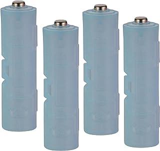 スマイルキッズ 日本製 電池アダプター 単4が単3になる電池アダプター ブルー 2個組み 2セット ADC-430BL-2P