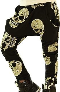 MAXIMGR Little Boys Girls Cartoon Skull Printed Long Trousers Casual Harem Baggy Pants