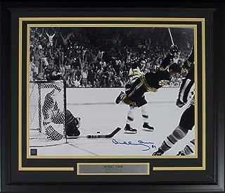 Bobby Orr Signed Framed Boston Bruins 16x20 Flying Goal Spotlight Photo GNR