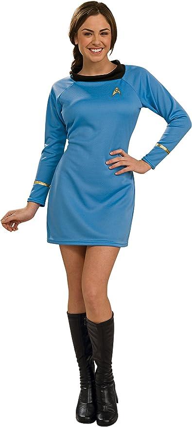 60s Costumes: Hippie, Go Go Dancer, Flower Child, Mod Style Womens Star Trek Classic Deluxe Dress Costume  AT vintagedancer.com