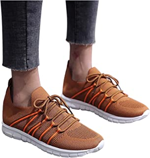 Women Breathable Mesh Casual Lace-Up Sport Shoes Shallow Mouth Running Shoes Comfortable Soft...