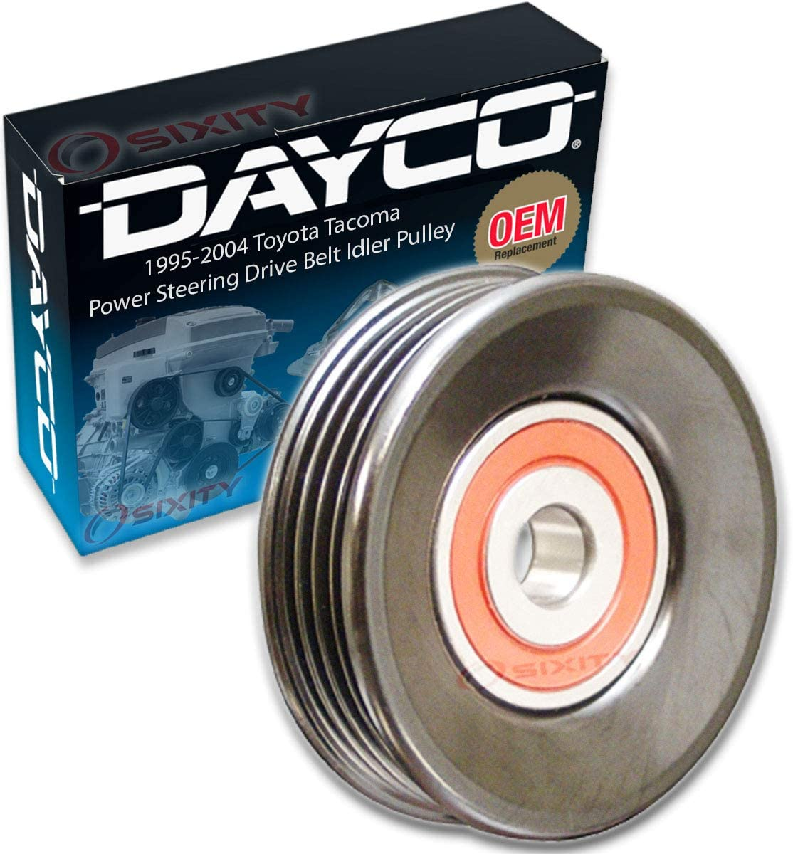 Dayco Max 87% shopping OFF Power Steering Drive Belt Idler Pulley with Toy compatible