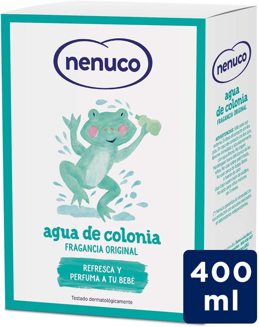 Nenuco Agua de Colonia recomendado para Bebés Recién Nacido (A partir de 3 meses) Fragancia Original - Formato de Cristal 400ml