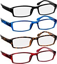 Fashion Reading Glasses Men and Women - Classic Readers Spring Hinge & Dura-Tight Screws