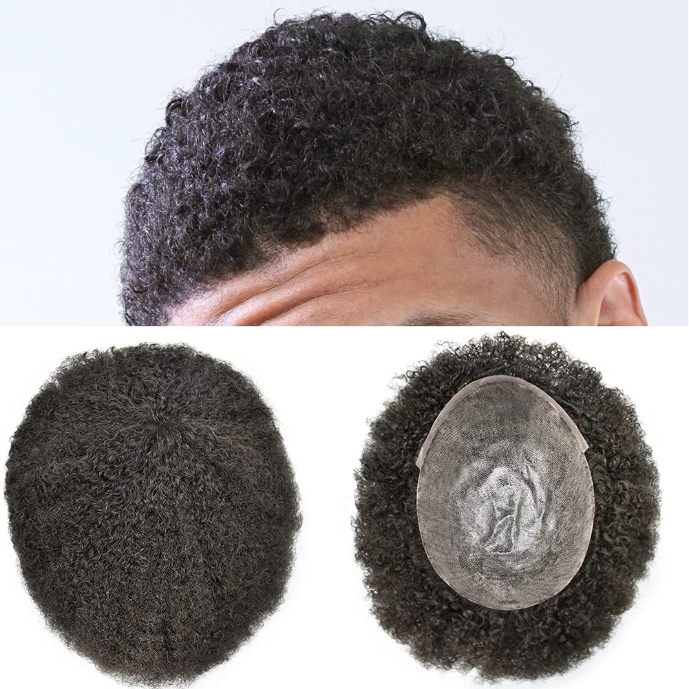 FACE MIRACLE Men's Toupee For Black Afro Curly Ameri Now on sale African Men Al sold out.