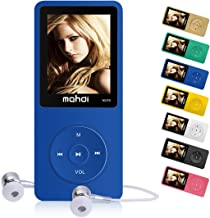 MYMAHDI 16GB MP3 Music Player 1.8 Inch Screen 70h Lossless Sound, Support up to 128GB Memory Card Blue