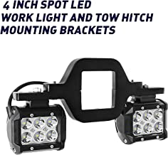Led Pods with Tow Hitch Mounting Bracket,EBESTauto 4 Inch LED Light Bar 36W LED Work Lights LED Driving Light Bar Spot Beam Off Road Light for Pickup ATV, SUV, Truck, Trailer, Forklift, Trains, Boat