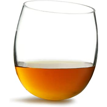 Sagaform Club Whiskey Glasses, Rounded Base, 6 Pack, Set of