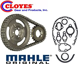 GM SBC V8 CHEVY 1965-86 5.7 283 327 305 350 383 400 HD CLOYES DOUBLE Row TIMING CHAIN & Gasket SET (Double Row Chain)