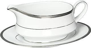 Noritake Regina Platinum 2-Piece Gravy Boat with Saucer