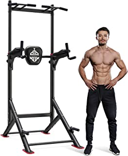 Sportsroyals Power Tower Pull Up Dip Station Adjustable Multi-Function Home Gym Strength Training Fitness Equipment Newer Version