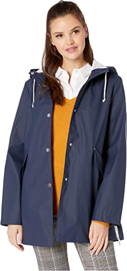 Hooded Slicker w/ Side Zip Hem