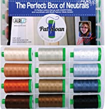 Pat Sloan The Perfect Box of Neutrals Aurifil Thread Kit 12 Large Spools 40 Weight PSNB4012