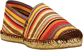 DIEGOS Women's Men's Espadrilles. Hand Made in Spain. (EU 37, Red Stripes)