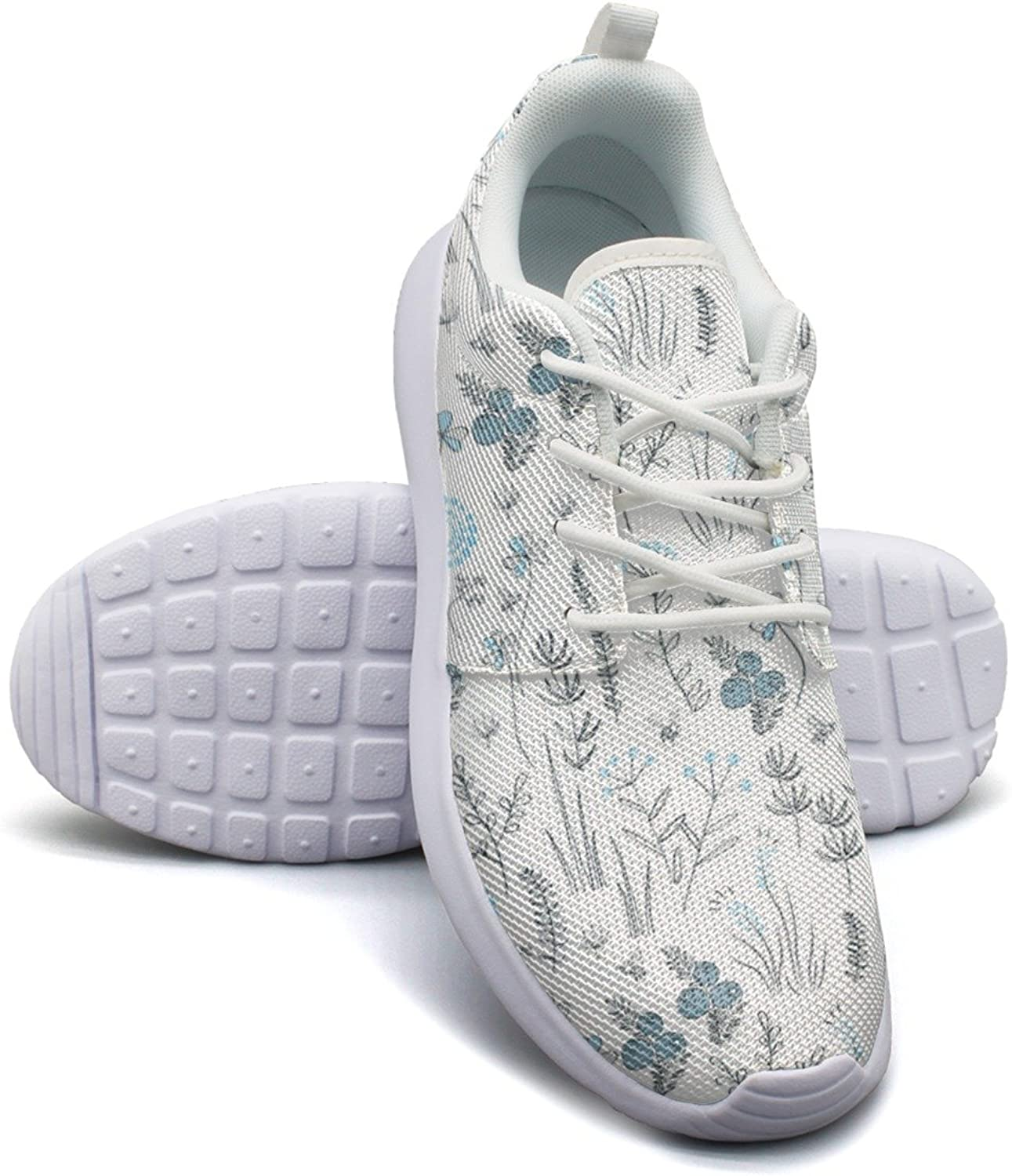 Eoyles gy Floral with Wild Herbs Forest Woman Slip Resistant Lightweight Running Sneakers shoes