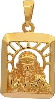 925 Silver God Shirdi Sai Baba Vermeil Religious Jewelry Pendant